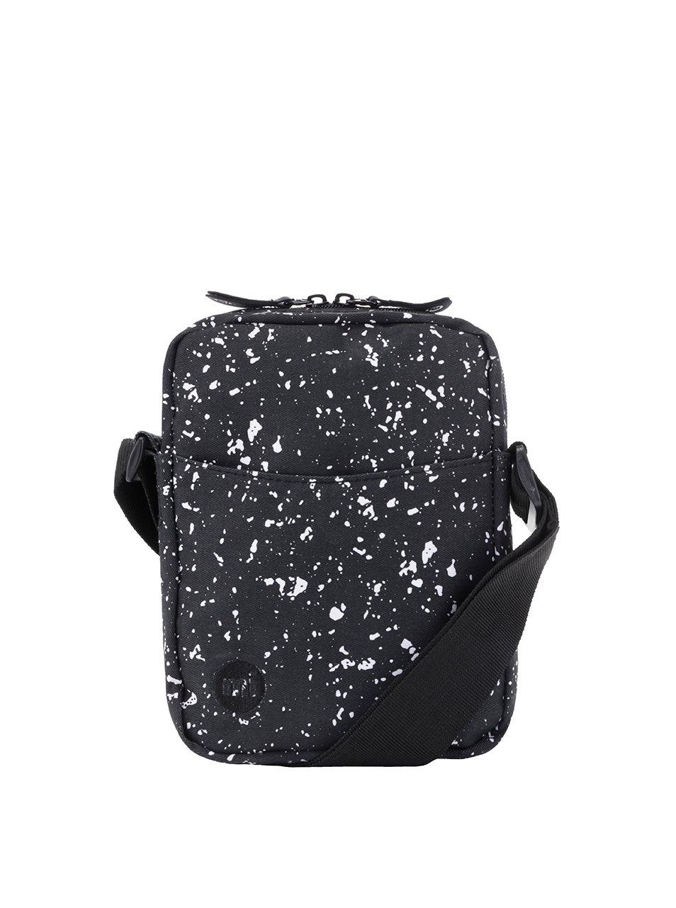 Bílo-černá pánská menší crossbody taška Mi-Pac Splattered