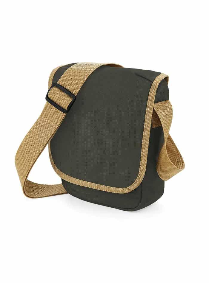 Mini taška přes rameno - Olivová a karamelová univerzal