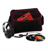 Retro taška přes rameno – Černá a červená univerzal