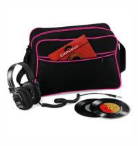 Retro taška přes rameno – Černá a růžová univerzal