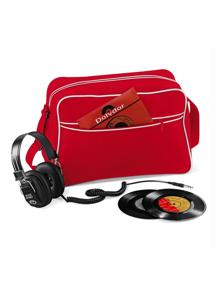Retro taška přes rameno - Červená a bílá univerzal