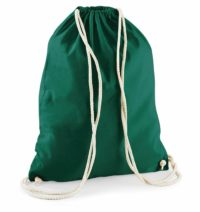 Bavlněný vak na záda  – Lahvově zelená univerzal