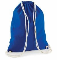 Bavlněný vak na záda  – Královsky modrá univerzal