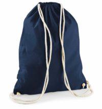 Bavlněný vak na záda  – Námořnická modrá univerzal