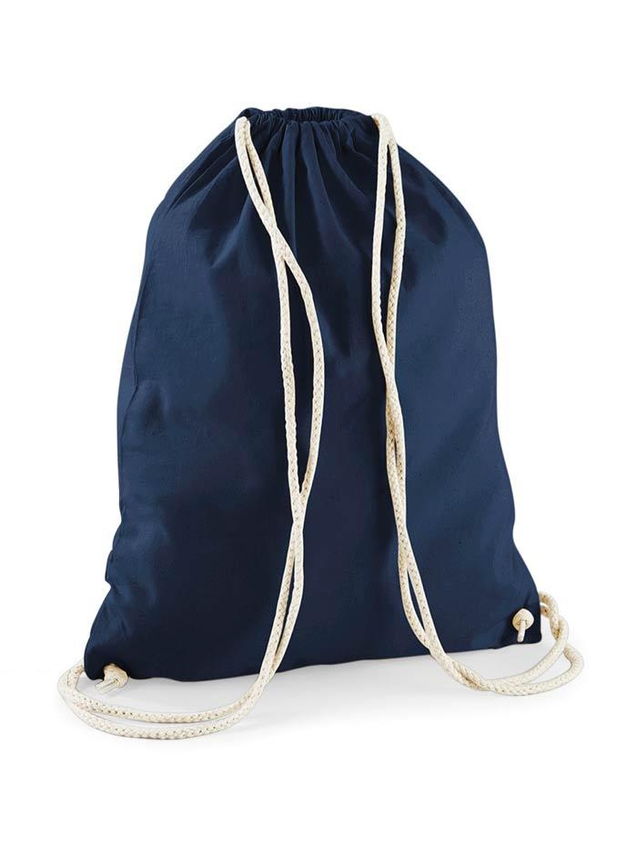 Bavlněný vak na záda  - Námořnická modrá univerzal