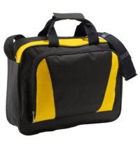 Taška přes rameno Cambridge – Černá a žlutá univerzal