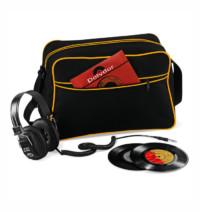 Retro taška přes rameno – Černá a žlutá univerzal