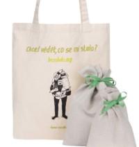 """""""Dobrá"""" plátěná taška s pytlíky Co se stalo pro Bezobalu"""