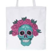 Bílá plátěná taška s lebkou ZOOT Originál Muerte