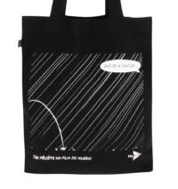 """""""Dobrá"""" černá plátěná taška NaFILM Na samotě"""