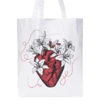 Bílá plátěná taška ZOOT Originál Let it bloom