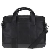 Černá pánská koženková taška na notebook Tommy Hilfiger