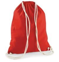 Bavlněný vak na záda  – Červená univerzal
